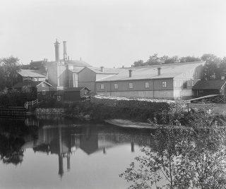 Vy från Selångerån vid Åkroken, Sundsvall.