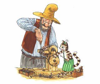 Pettson och Findus, mucklor och manicker illustration av Sven Nordqvist.